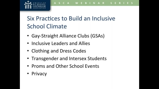 Best Practices for Creating an LGBTQ-inclusive School Climate